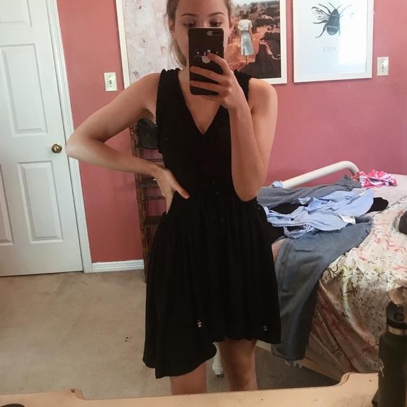 Black flowey dress!